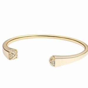 Michael Kors Gold Pave Pyramid Cuff Bracelet